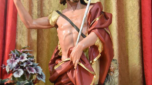 La statua di San Giovanni Battista, custodita nell'omonima chiesa di Soveria Mannelli (Foto di Mario Greco)