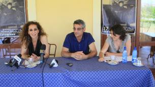 Giacinto Lucchino, con l'allora presidente della Provincia di Catanzaro, Wanda Ferro, alla presentazione di Settembre al Parco, edizione 2012
