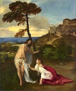 Noli me tangere (Tiziano, databile al 1511 circa e conservato nella National Gallery di Londra)