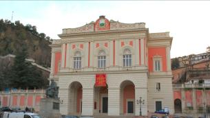 Il Teatro Rendano, nel centro storico di Cosenza