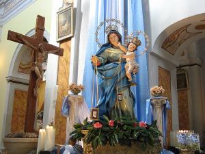 Adami di Decollatura: statua lignea della Madonna del Carmelo proveniente dall'Abbazia di Corazzo