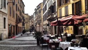 Milano, uno scorcio del quartiere Brera