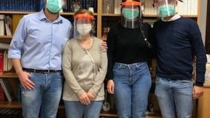 Da sx Giovanni Maria Iannizzi, dottoressa Francesca Liotta, Rita Marafioti, Giuseppe Loscrì