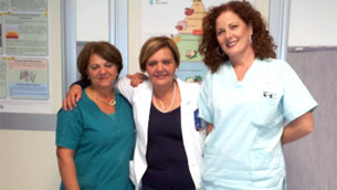 L'equipe di Diabetologia dell'ospedale di Lamezia Terme