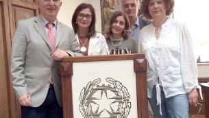 Nella foto da sinistra: Gianfranco Puccio, Rosanna Colao, Sabrina Curcio, Raffaele Di Lorenzo e Ornella De Vito