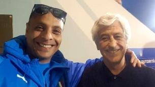 Antonio Gatto con Gianni Rivera