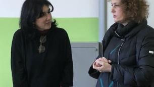 L'assessora Gargano e la dirigente della scuola Bilotti