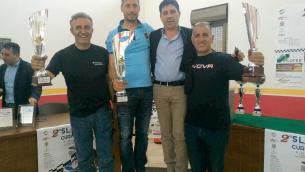 Il podio: Casillo, Piria, Barbaro insieme al sindaco Pallaria
