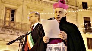 Il sindaco Mascaro ed il vescovo Cantafora