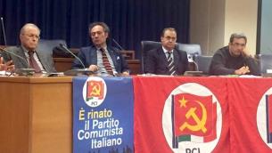 Da sinistra, nella foto: Francesco Nucara, Maurizio Ballistreri, Michelangelo Tripodi e Luca Cangemi