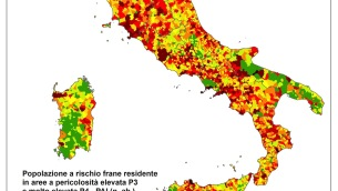 Mappa della popolazione residente in zone a rischio frane