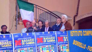 Marco Fè tra padre Antonio Bonacci, Pino Morabito e Gaetano Montalto