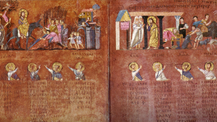 Miniatura del Codex Purpureus Rossanensis