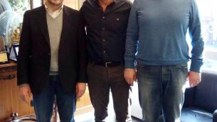 Nella foto, da sinistra: Molinaro, Bruno e Siniscalco
