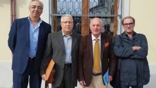 Da sinistra, Nicolino Alessi, Giuseppe Perri,  Natale Amantea e Pasquale Barillà