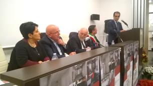 Da sinistra: Barbalace, Oliverio, Mirocle Crisci, Pascuzzi e Bruno