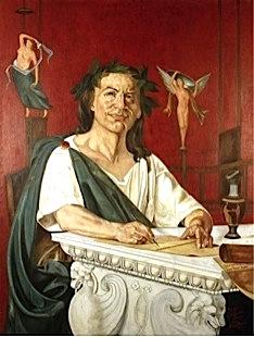 Quinto Orazio Flacco: ritratto immaginario di Giacomo Di Chirico