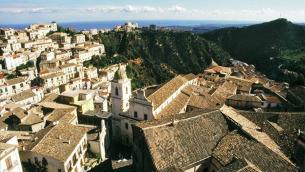 Scorcio panoramico del centro storico di Rossano (Cosenza)