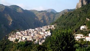 Scorcio panoramico di Buonvicino (Cosenza)