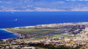 Veduta panoramica dell'aeroporto «Tito MInniti»
