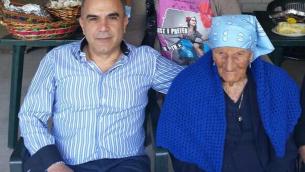 Raffaele Papa con Zia Giacomina