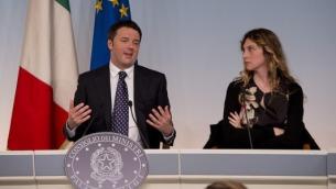 Il premier Renzi ed il ministro Madia
