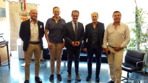 Da sinistra nella foto: Scaramuzzino, Ruberto, Bruno, Mascaro e Battaglia