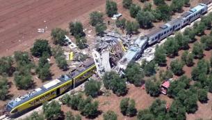 Lo scontro tra i due treni in Puglia avvenuto lo scorso luglio