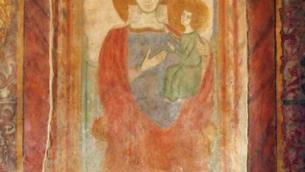 L'affresco restaurato della Madonna della Spina