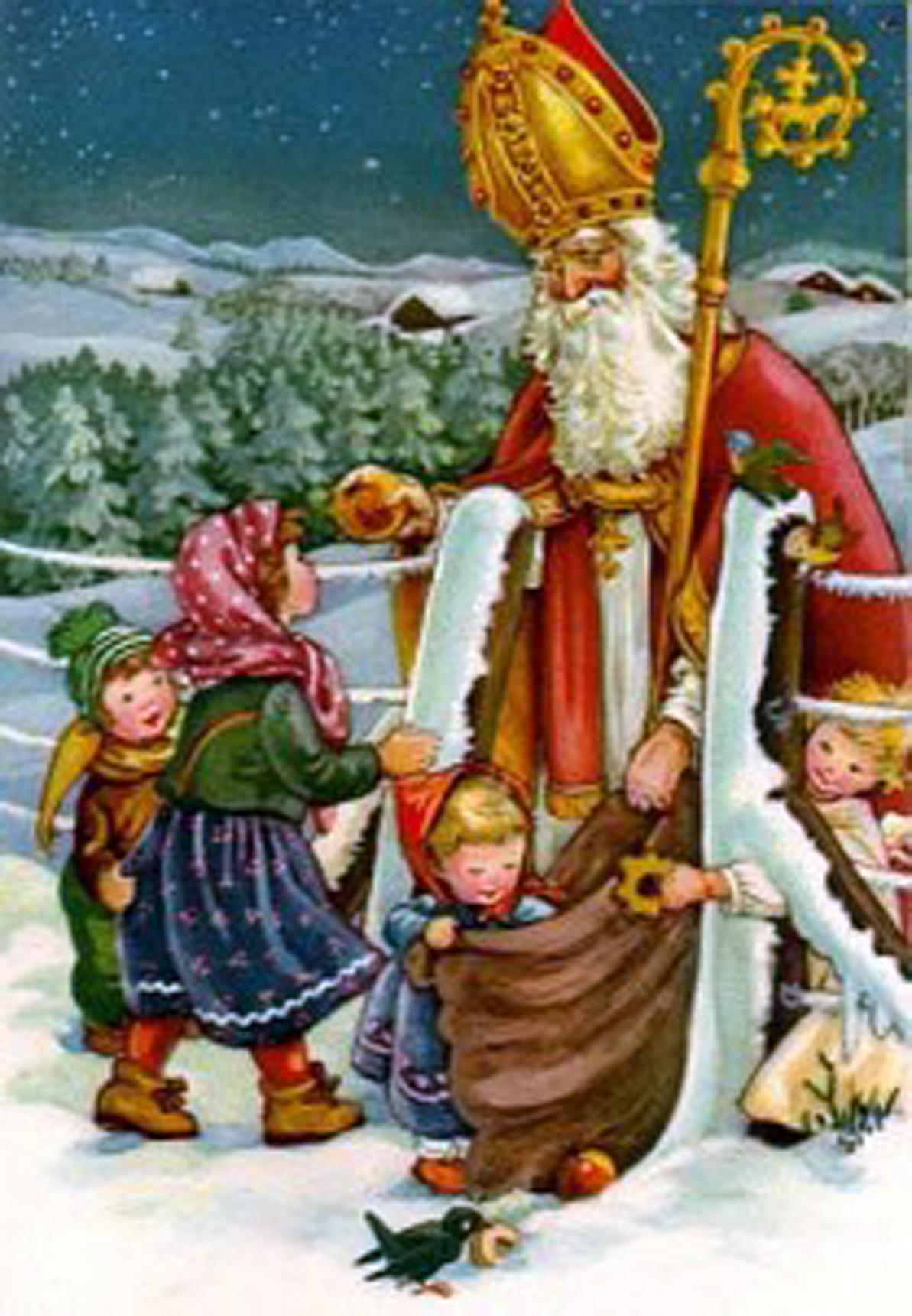 Babbo Natale E San Nicola.San Nicola E La Vera Storia Di Babbo Natale