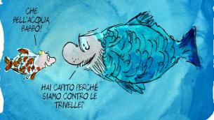 Una vignetta di Sergio Staino