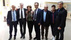 Il presidente Bruno in visita all'Istituto per Geometri