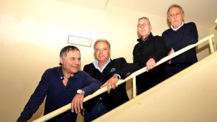 Da sinistra nella foto: Diego Apa, Pasquale Ascioti, Edmondo Aiello e Valter Costantino