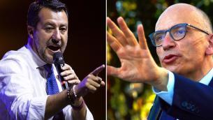 Alta tensione Letta-Salvini: Green pass, obbligo vaccinale e elezioni