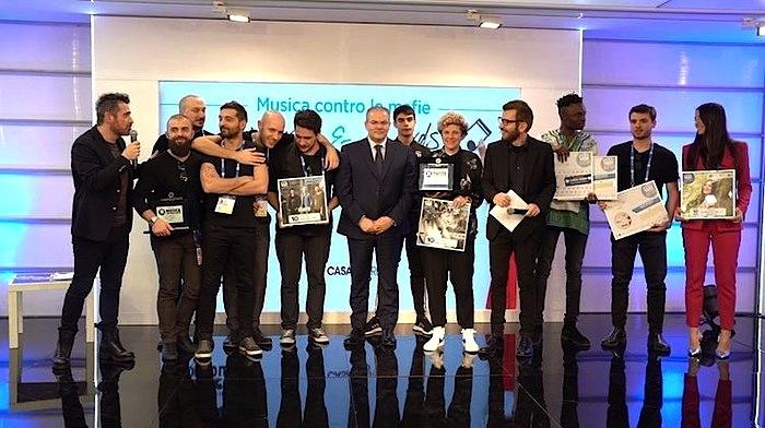 """Sanremo: premiati artisti """"Musica contro le mafie"""""""