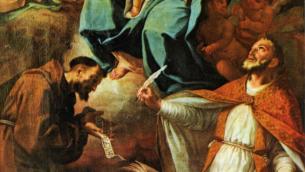 Un dipinto di Andrea Cefaly raffigurante l'Immacolata, custodito nella Chiesa di Santa Maria degli Angeli di Lamezia Terme