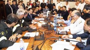 La riunione del Centro coordinamento soccorso
