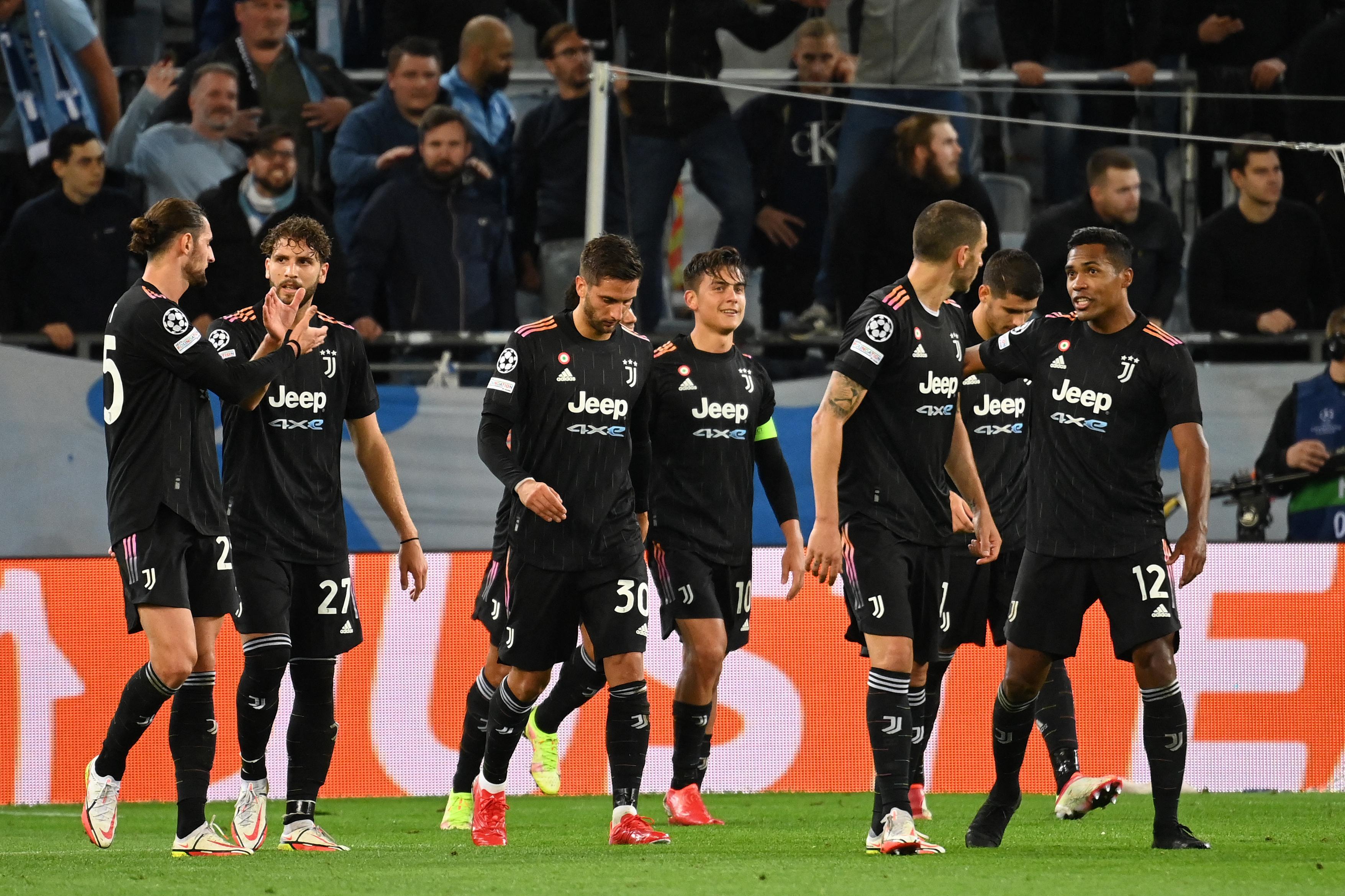 Champions: Juve 3-0 in casa Malmoe, Atalanta 2-2 col Villarreal