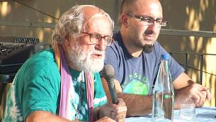 Bruno Arcuri, con padre Alex Zanotelli