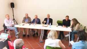 Da sinistra: Ivan Falvo DUrso, Giuseppe Gigliotti, Nicolino Panedigrano, Costantino Fittante, Salvatore D'Elia, Daniela Grandinetti