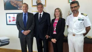 Nella foto, da sinistra: Philips, Agostinelli, Countryman e Russo