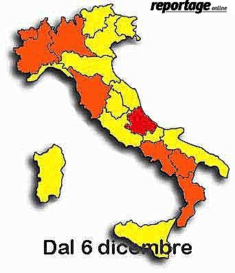 Cartina Geografica Regioni Italia.Covid Italia 8 Regioni Cambiano Colore Calabria Rimane Arancione Con Rt 1 06