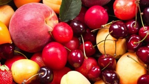 59261856 - fresh fruits and vegetables as background