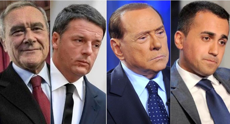Le promesse elettorali dei diversi leader politici accolte for Lista politici italiani