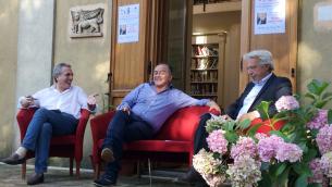 Nella foto, da sinistra: Caligiuri, Gratteri e Sirianni