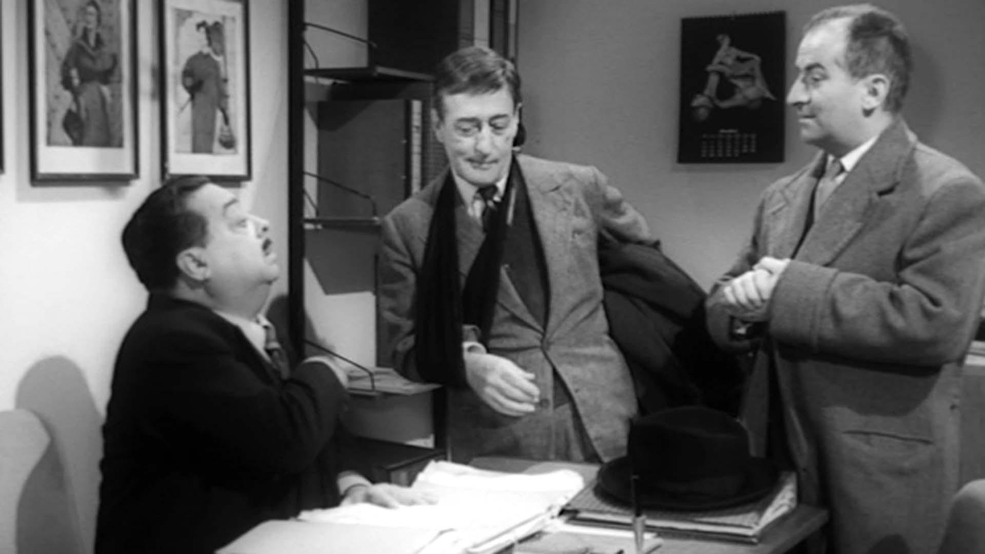 Aldo Fabrizi, Totò e Louis de Funes nel film I Tartassati di Steno