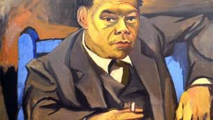 Corrado Alvaro in un ritratto di Renato Guttuso del 1946