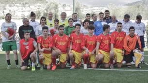 La Royal Team all'inaugurazione del campo di calcio dell'Istituto tecnico per geometri