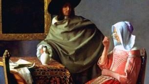 Jan Vermeer: Bicchiere di vino (particolare)