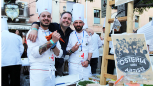 Da sinistra Giuseppe Macrì, Luca Gorga, Luca Caligiuri